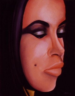 """Aaliyah"" Pastel on paper. Copyright 2013 Totsymae"