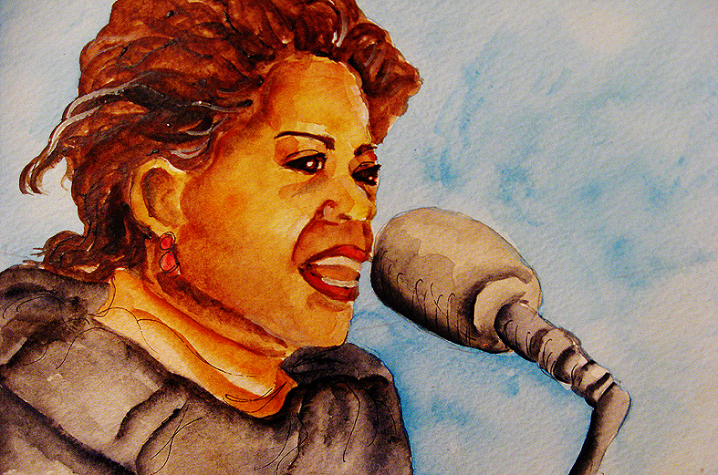 """Oprah"" Watercolor on Paper. Copyright 2012 Totsymae"