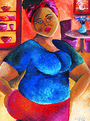 """""""Mama's Weary"""" Acrylic on paper. Copyright 2013 Totsymae"""
