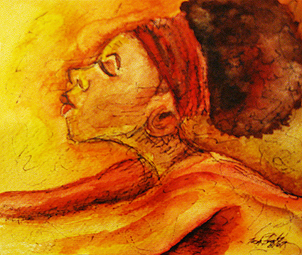 """Surrender"" Watercolor/Ink on paper Copyright 2012 Totsymae"