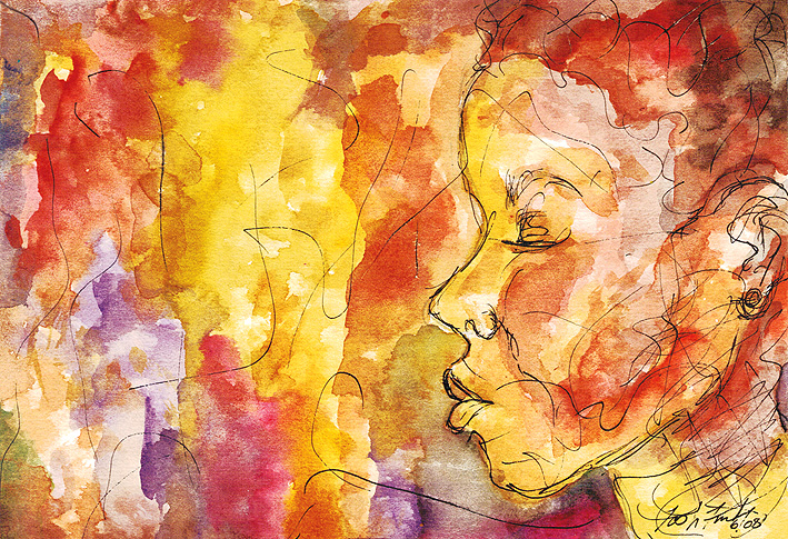 """""""Colors l"""" Watercolor and Ink. Copyright 2013 Totsymae"""