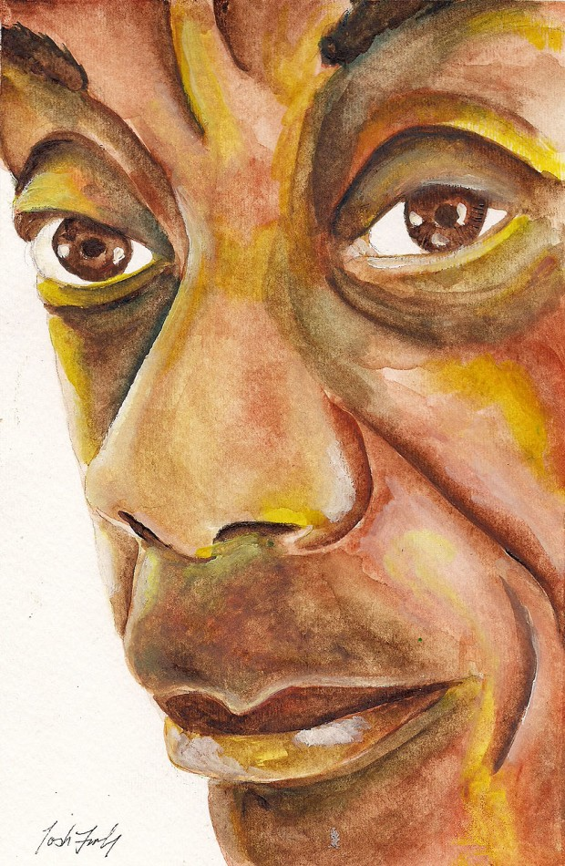 """James Baldwin"" Watercolor on paper. Copyright 2013 Totsymae"