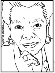 Color Sheet of Maya Angelou by Totsymae. Copyright 2013
