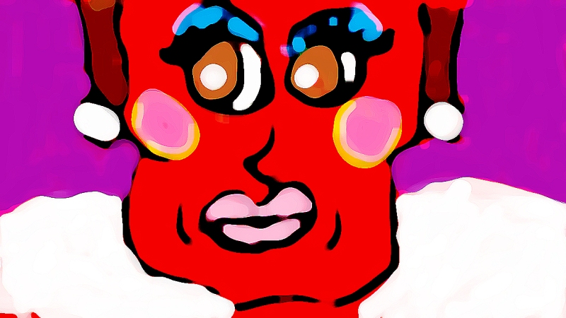 """Red Lady"" Digital Art / Copyright 2013 Totsymae"