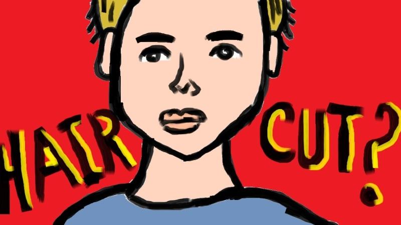 """Hair Cut"" Digital Art / Copyright 2013"