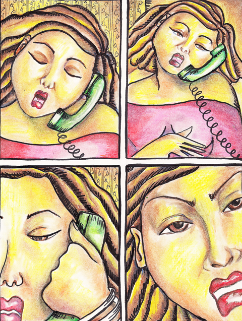 beatrice on phone
