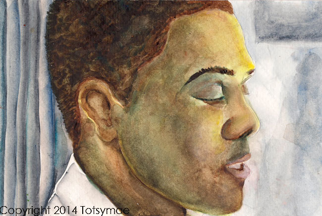"""Maxwell"" Watercolor on paper"