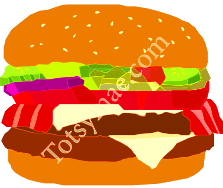 burger with watermark